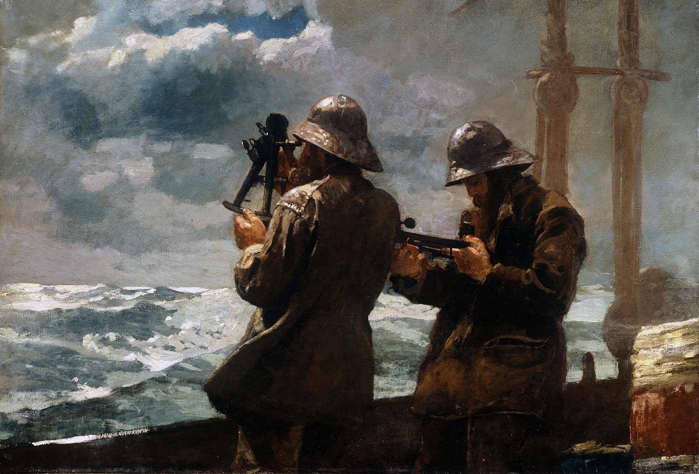"""""""Eight Bells,"""" by Winslow Homer, 1886."""