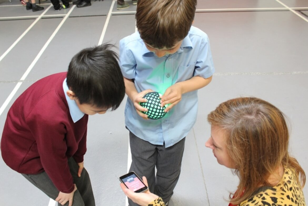 User testing Hackaball with children