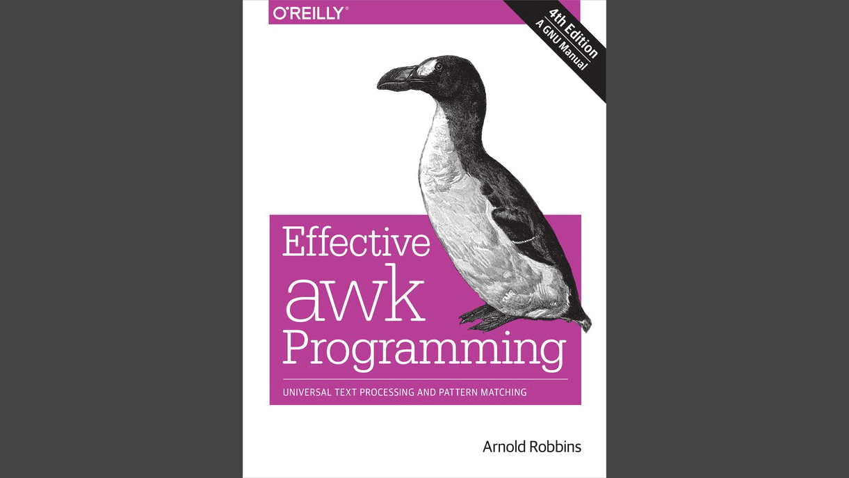 Cover: Effective Awk Programming