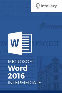 Word 2016 Intermediate