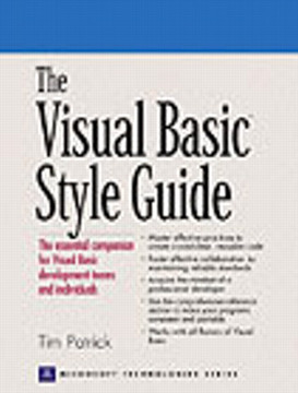 Visual Basic® Style Guide, The