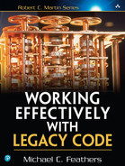 Cover of Working Effectively with Legacy Code, First Edition