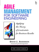 Cover of Agile Management for Software Engineering: Applying the Theory of Constraints for Business Results