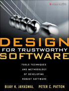 Cover of Design for Trustworthy Software: Tools, Techniques, and Methodology of Developing Robust Software