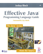 Book cover for Effective Java™: Programming Language Guide