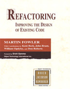 Cover of Refactoring: Improving the Design of Existing Code