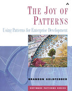 Cover of Joy of Patterns: Using Patterns for Enterprise Development, The