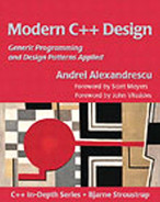 Cover of Modern C++ Design: Generic Programming and Design Patterns Applied