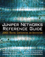 Cover of Juniper Networks® Reference Guide: JUNOS™ Routing, Configuration, and Architecture