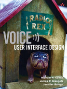 Cover of Voice User Interface Design