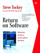 Cover of Return on Software: Maximizing the Return on Your Software Investment