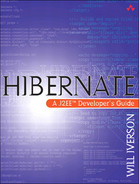 Cover of Hibernate: A J2EE™ Developer's Guide