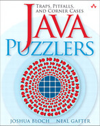 Cover of Java™ Puzzlers: Traps, Pitfalls, and Corner Cases