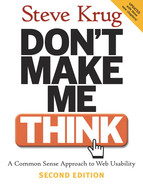Cover of Don't Make Me Think!: A Common Sense Approach to Web Usability, Second Edition