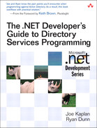 Cover of The .NET Developer's Guide to Directory Services Programming