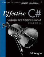 Cover of Effective C# (Covers C# 4.0): 50 Specific Ways to Improve Your C#, Second Edition