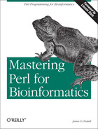 Cover image for Mastering Perl for Bioinformatics