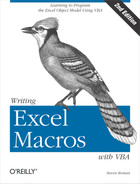 Cover image for Writing Excel Macros with VBA, 2nd Edition