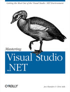 Cover image for Mastering Visual Studio .NET