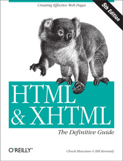 HTML & XHTML: The Definitive Guide, 5th Edition