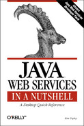 Cover image for Java Web Services in a Nutshell