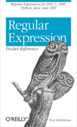 Cover image for Regular Expression Pocket Reference