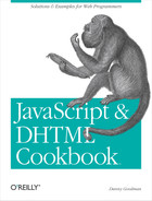 Cover image for JavaScript & DHTML Cookbook