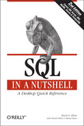 Cover image for SQL in a Nutshell