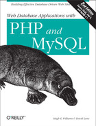 Cover image for Web Database Applications with PHP and MySQL, 2nd Edition
