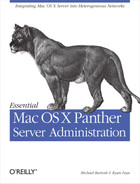Cover image for Essential Mac OS X Panther Server Administration