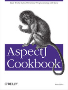 Cover image for AspectJ Cookbook