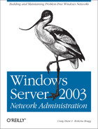 Cover image for Windows Server 2003 Network Administration