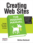 Cover image for Creating Web Sites: The Missing Manual