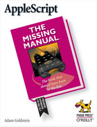 Cover image for AppleScript: The Missing Manual