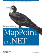 Cover image for Programming MapPoint in .NET