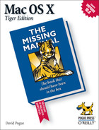 Cover image for Mac OS X: The Missing Manual, Tiger Edition