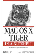 Cover image for Mac OS X Tiger in a Nutshell