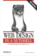 Cover image for Web Design in a Nutshell, 3rd Edition