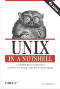 Cover image for Unix in a Nutshell, 4th Edition