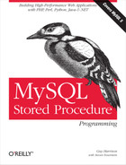 Cover image for MySQL Stored Procedure Programming