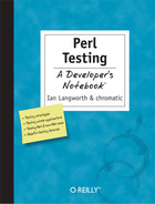 Cover image for Perl Testing: A Developer's Notebook
