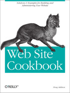 Cover image for Web Site Cookbook