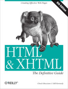 Cover of HTML & XHTML: The Definitive Guide, 6th Edition