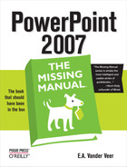 Cover image for PowerPoint 2007: The Missing Manual
