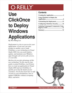 Use ClickOnce to Deploy Windows Applications
