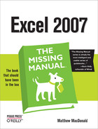 Cover image for Excel 2007: The Missing Manual