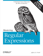 Book cover for Mastering Regular Expressions, 3rd Edition