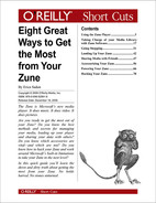 Cover image for Eight Great Ways to Get the Most from Your Zune
