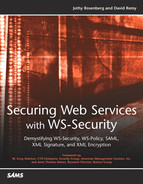 Cover of Securing Web Services with WS-Security
