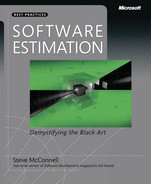 Cover of Software Estimation: Demystifying the Black Art